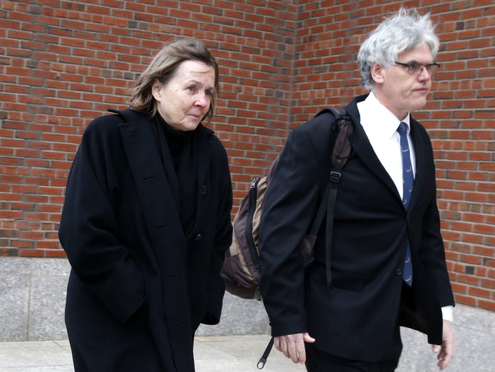 On Jan. 6, members of the legal defense team for Boston Marathon bombing suspect Dzhokhar Tsarnaev, from left, Judy Clarke and Timothy Watkins arrive at the federal courthouse in Boston. (Michael Dwyer/AP)
