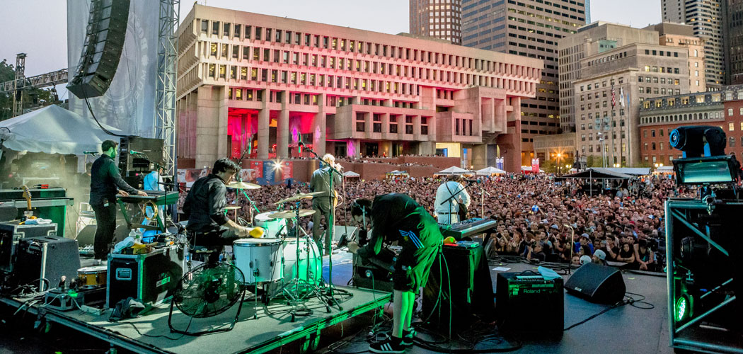 The National performs at the September 2014 edition of the Boston Calling Music Festival. (Mike Diskin)