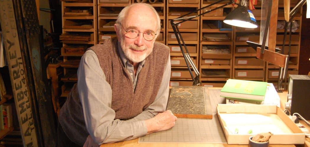 Ed Emberley in one of his studios in his Ipswich home. (Greg Cook)