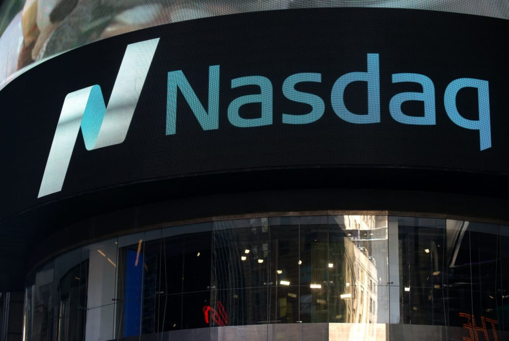 Most of the 18 Massachusetts biotechnology companies that went public in 2018 listed on the Nasdaq. (Bryan Thomas/Getty Images)