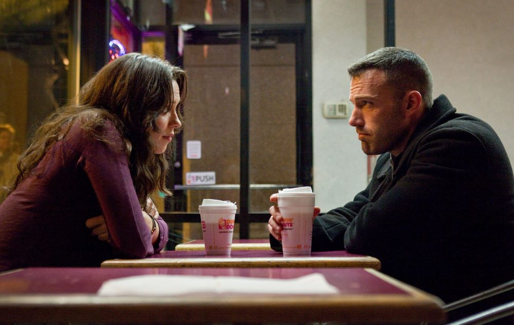 "Rebecca Hall, left, and Ben Affleck are shown in a scene from ""The Town."" (AP Photo/Warner Bros., Claire Folger)"