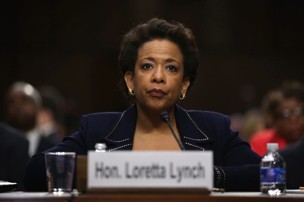 U.S. Attorney for the Eastern District of New York Loretta Lynch testifies during a confirmation hearing before Senate Judiciary Committee January 28, 2015 on Capitol Hill in Washington, DC. (Alex Wong/Getty Images)
