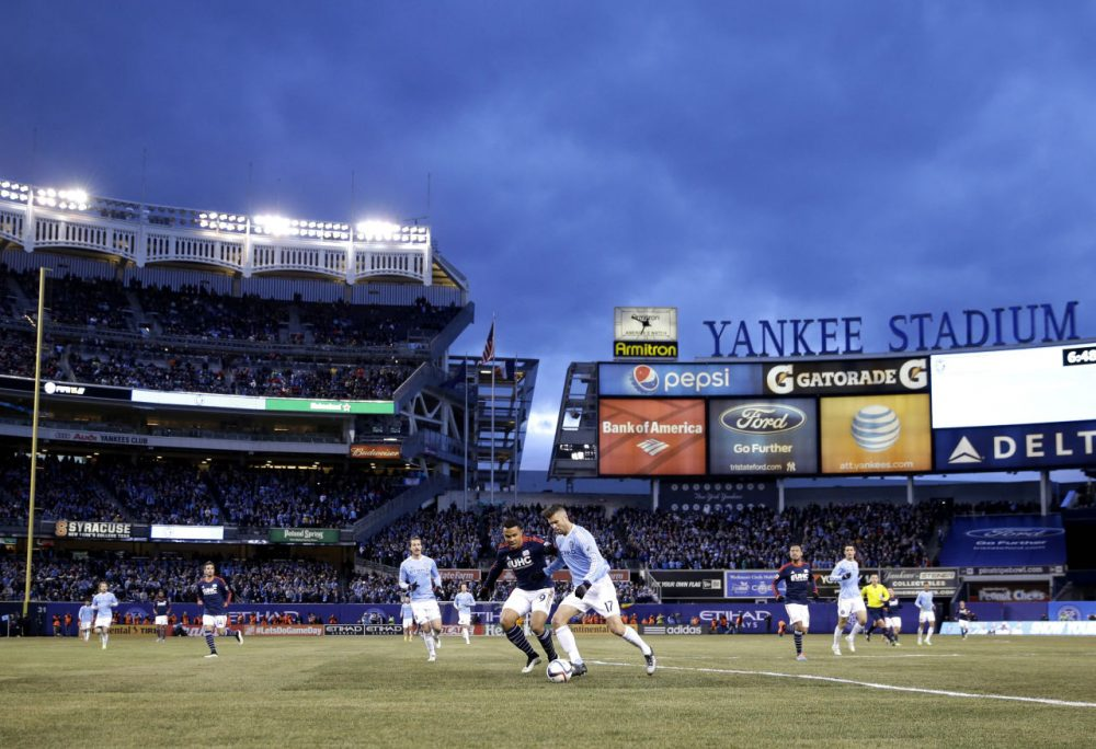 The New England Revolution played New York City FC at Yankee Stadium. (Seth Wenig/AP)