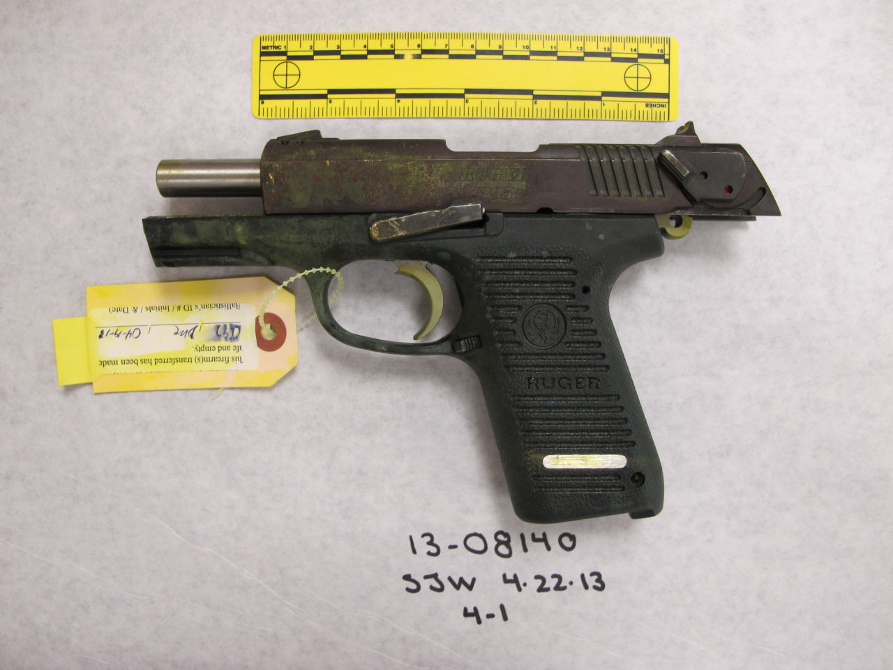 Stephen Silva said during testimony Tuesday that he loaned Dzhokhar Tsarnaev a P95 Ruger pistol in February 2013. Authorities say the P95 Ruger was the gun used to kill MIT police officer Sean Collier. (Department of Justice)