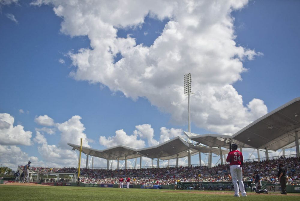 Red Sox slugger David Ortiz waits to bat during a spring training game in Fort Myers, Fla. (Brynn Anderson/AP)