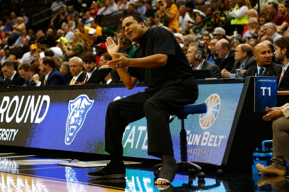 Georgia State head coach Ron Hunter found Thursday's game against Baylor so exciting that he fell out of his chair. But how did the rest of  Thursday's games rate against previous Madnesses of March? (Kevin C. Cox/Getty Images)