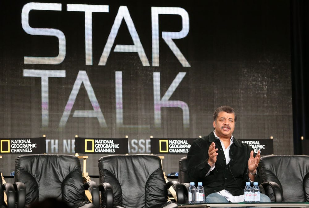 "Neil deGrasse Tyson, author, astrophysicist, lecturer and director of the Hayden Planetarium will be premiering a new show on National Geographic, based on his popular podcast, ""Star Talk.""  (Frederick M. Brown/Getty Images)"