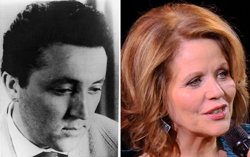 German opera singer Fritz Wunderlich (1930 - 1966) is pictured circa 1958. (Express Newspapers/Getty Images) and American opera singer Renee Fleming is pictured on, March 2, 2015, in New York. (Evan Agostini/Invision via AP)