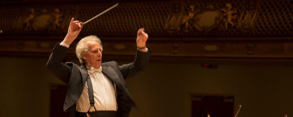 Benjamin Zander conducts the Boston Philharmonic Youth Orchestra at Symphony Hall. (Courtesy)