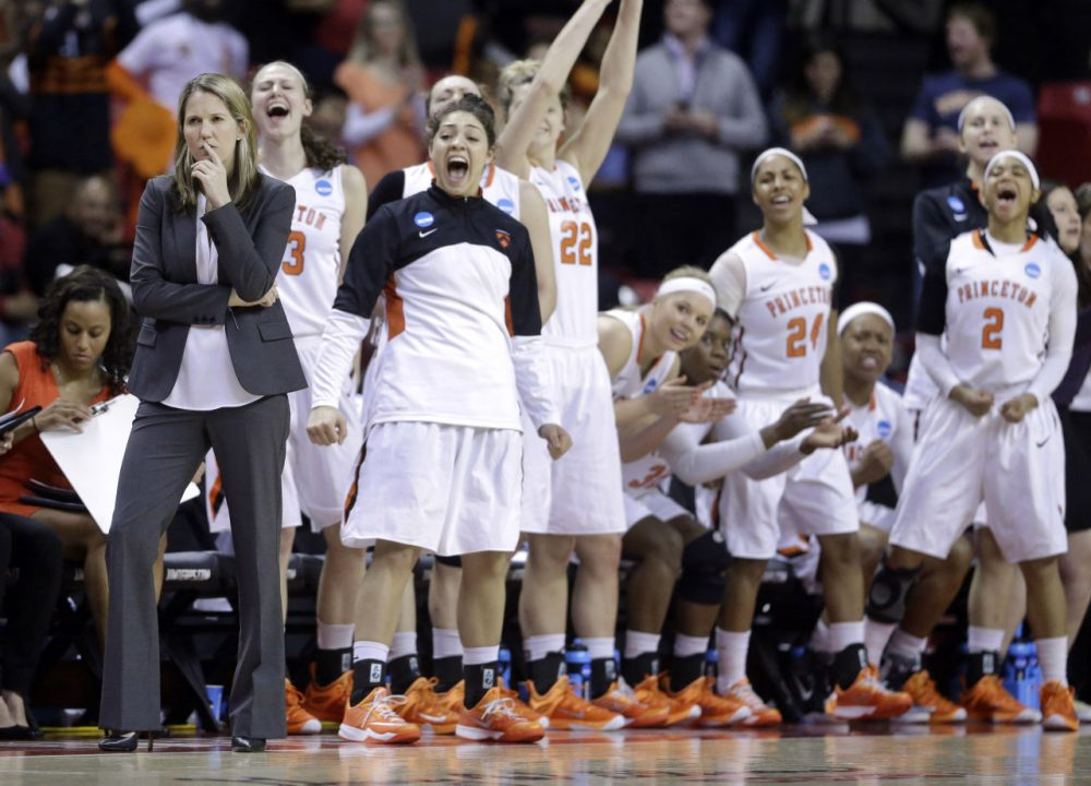Courtney Banghart and the Princeton women's basketball team finished 31-1, winning a game in the NCAA tournament for the first time in program history. (Patrick Semansky/AP)