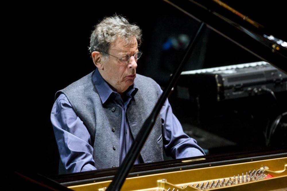 Composer Philip Glass performs his La Belle et la Bête (Beauty and the Beast) concert, as part of the Budapest Spring Festival in the Palace of Arts in Budapest, Hungary in 2014. (MTI, Balazs Mohai/AP)