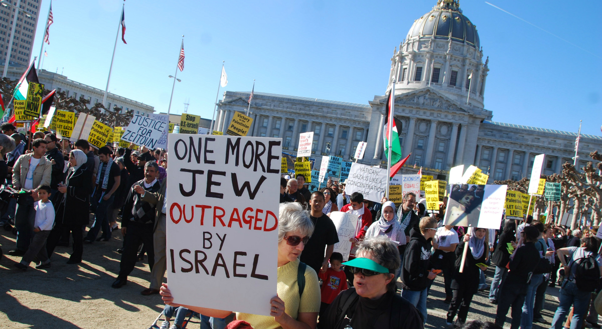 Julie Wittes Schlack: An increasingly polarized American Jewish community must find ways to directly discuss and debate the conflicts in the Middle East -- our identity depends on it. (Steve Rhodes/flickr)