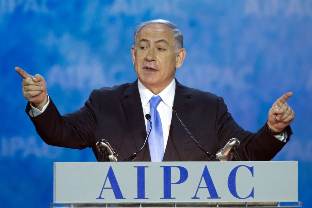 Israeli Prime Minister Benjamin Netanyahu addressed the 2015 American Israel Public Affairs Committee Policy Conference in Washington Monday. (Cliff Owen/AP)