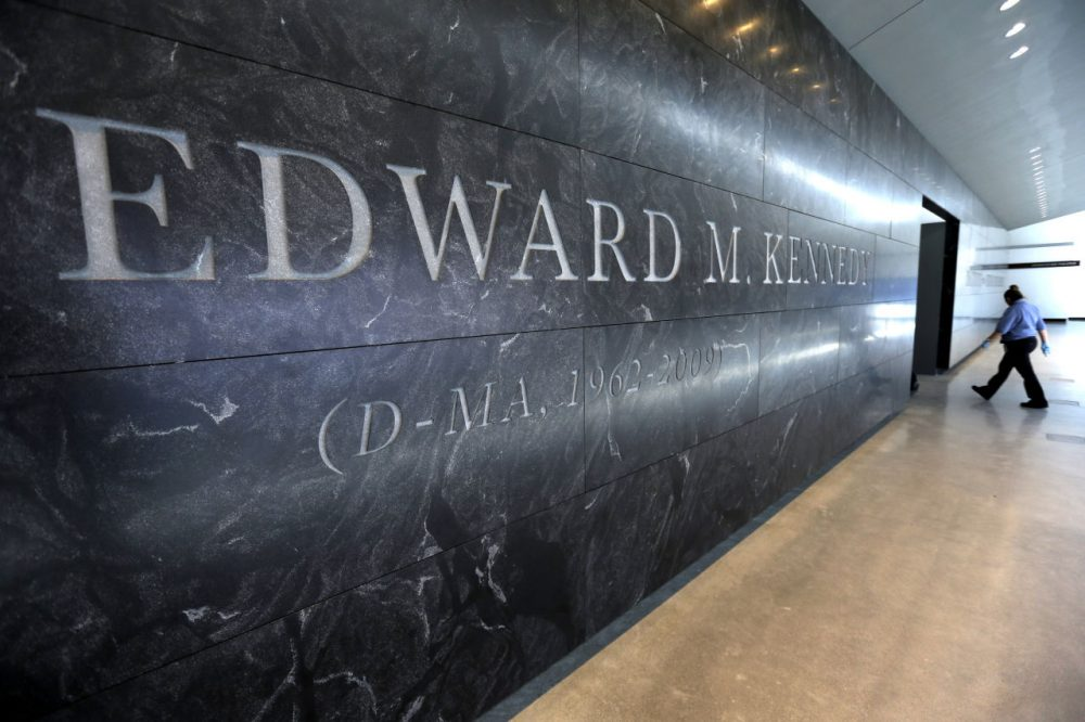 The Edward M. Kennedy Institute in Boston is scheduled to be dedicated on Monday, March 30, 2015. (Steven Senne/AP)