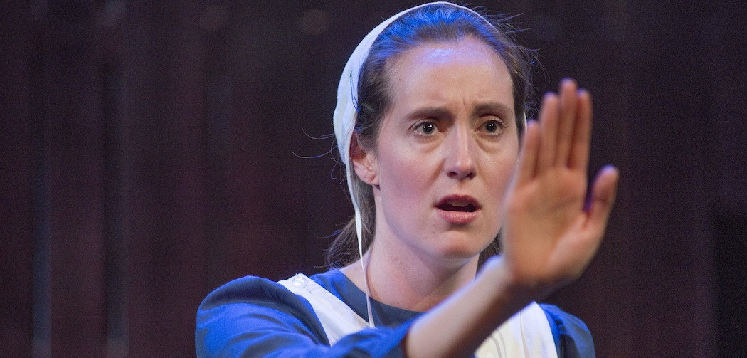 "Danielle Kellerman in ""The Amish Project"" at New Repertory Theatre. (Andrew Brilliant/Brilliant Pictures)"