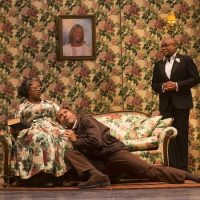 """Capathia Jenkins, Ken Robinson, and Nathan Lee Graham in """"The Colored Museum"""" at the Huntington Theatre Company. (T. Charles Erickson)"""