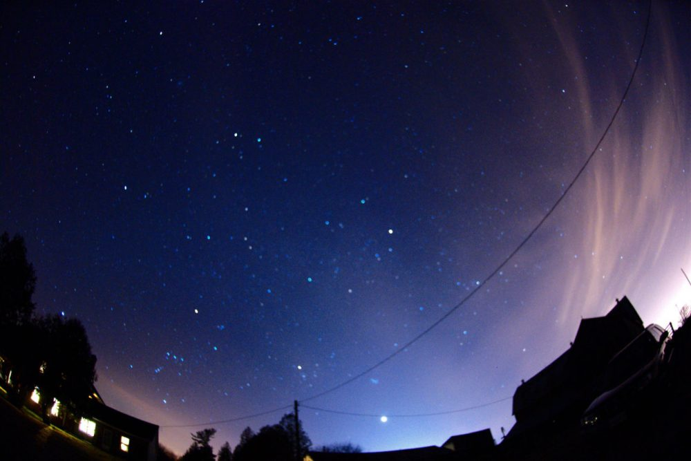 A view of winter constellations on a starry, clear night. (Phillip Chee / Flickr)