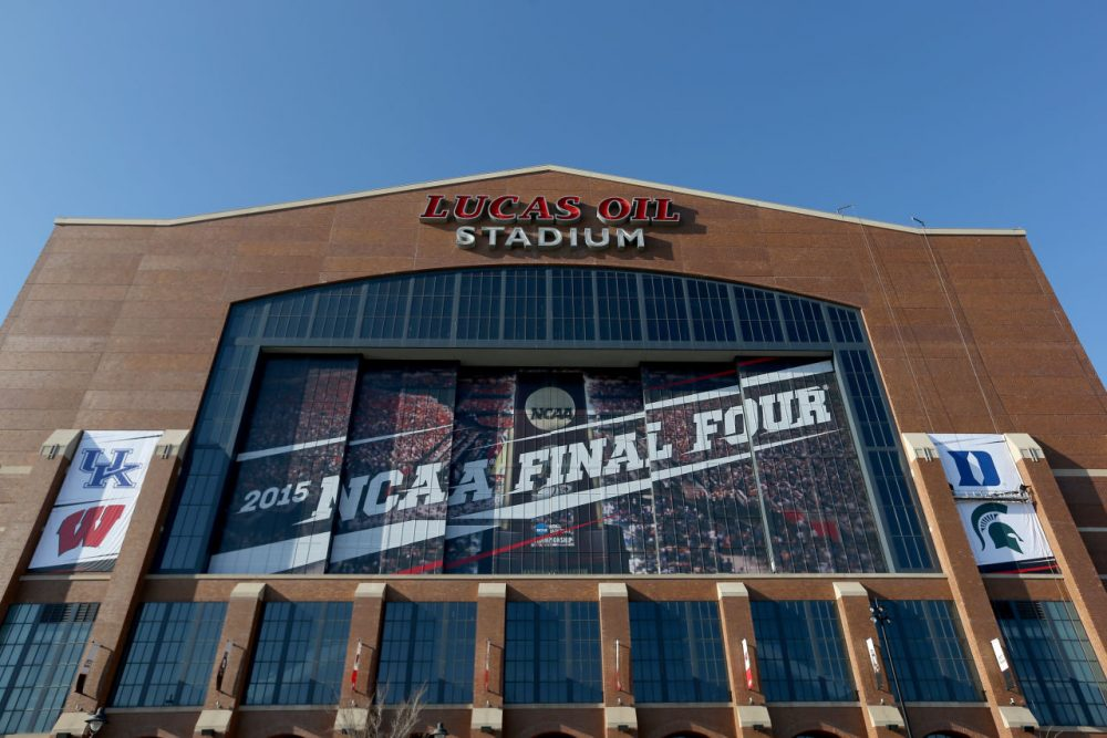 Lucas Oil Stadium, home of the 2015 Final Four, is seen on April 1, 2015 in Indianapolis, Indiana. (Streeter Lecka/Getty Images)