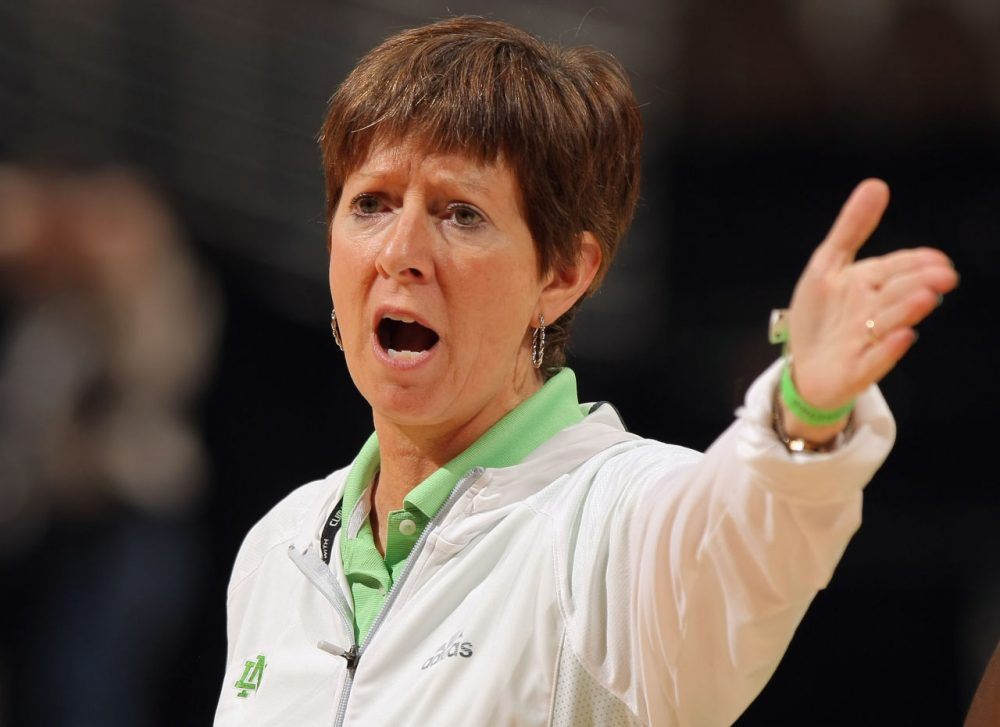 Muffet McGraw has led the Notre Dame women's basketball team to six Final Fours and one national championship. (Doug Pensinger/Getty Images)