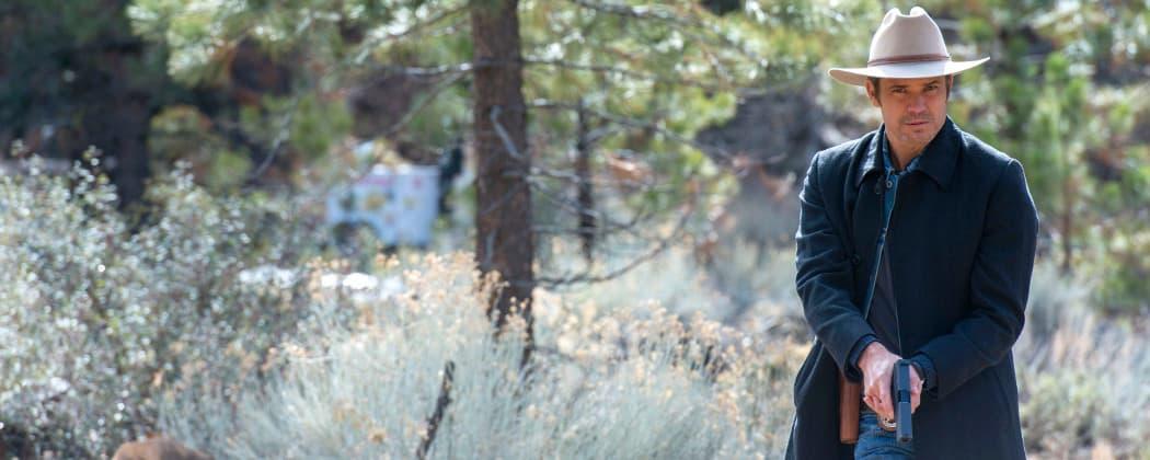 "Timothy Olyphant as Deputy U.S. Marshal Raylan Givens in a scene from ""Justified. "" (Prashant Gupta/FX)"
