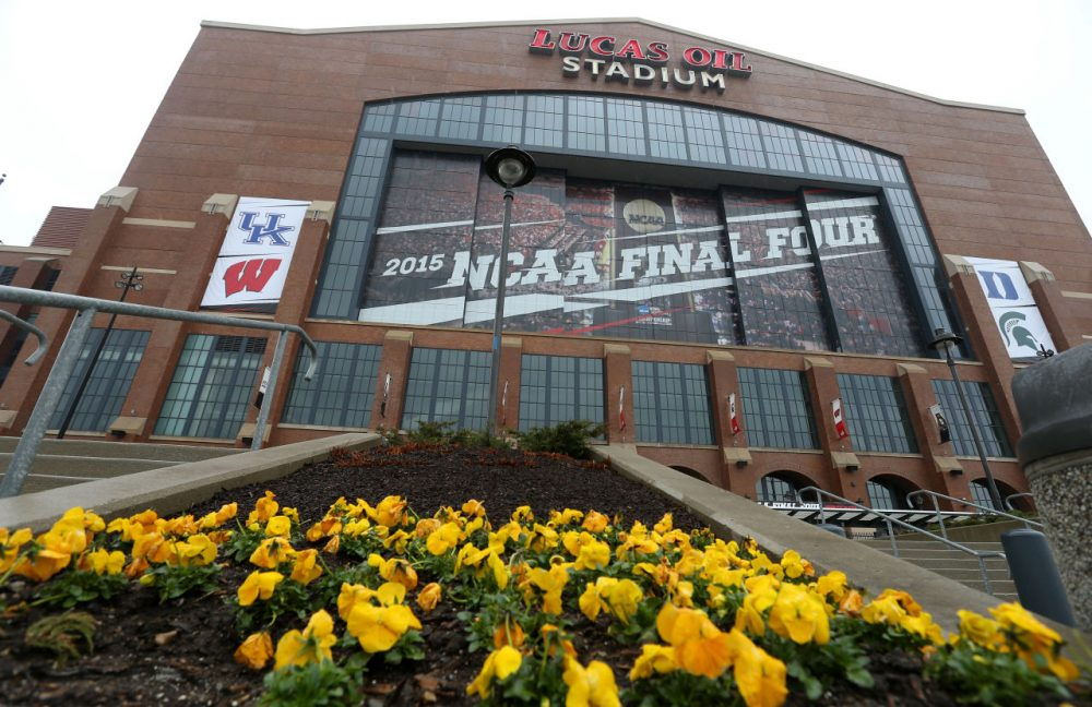The Final Four is set in Indianapolis this year. The state of Indiana is also in the news for an unpopular piece of legislation. (Streeter Lecka/Getty Images)