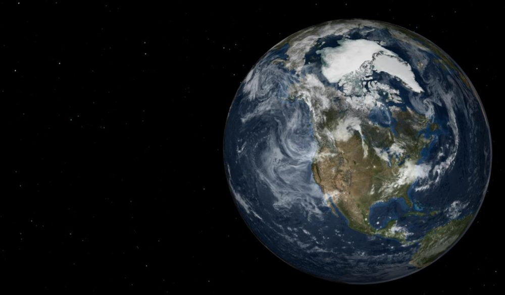 How long would it take to fall through the Earth? Alex Klotz's new calculation is four minutes shorter than previous accepted answer. (NASA/Goddard Space Flight Center Scientific Visualization Studio)