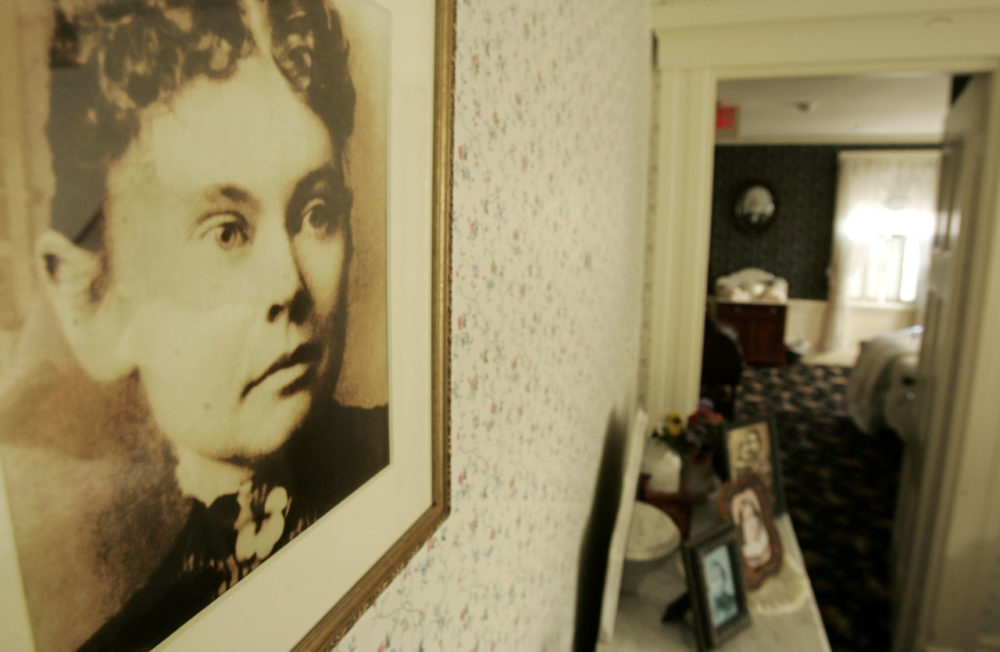 A photograph of Lizzie Borden in the Lizzie Borden Bed and Breakfast, in Fall River, Mass. in 2008. (Steven Senne/AP)