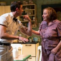 """The milkman, Michael Knowlton, and Lola, Adrianne Krstansky, in the Huntington's """"Come Back, Little Sheba,"""" directed by David Cromer. (T. Charles Erickson)"""