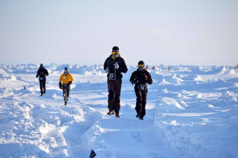 Runners participate in the North Pole Marathon. (North Pole Marathon/Facebook)