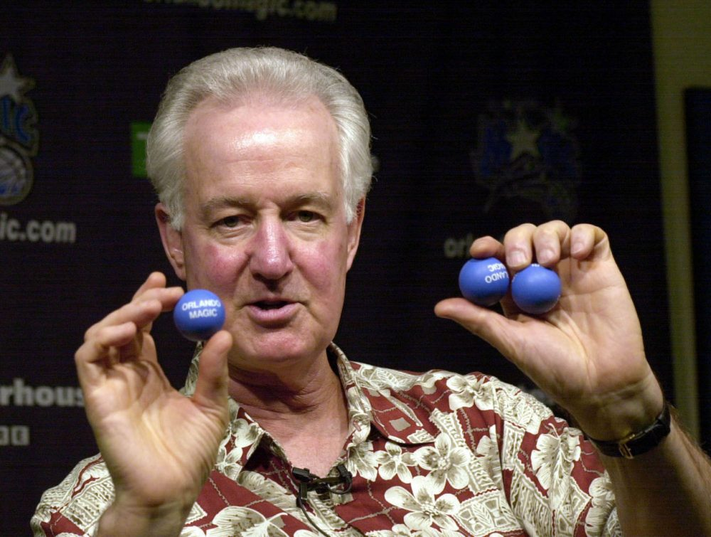 Orlando Magic Senior Vice President Pat Williams knows a thing or two -- or three -- about winning the draft lottery. The Magic have received the No. 1 overall pick three times. (Peter Cosgrove/AP)