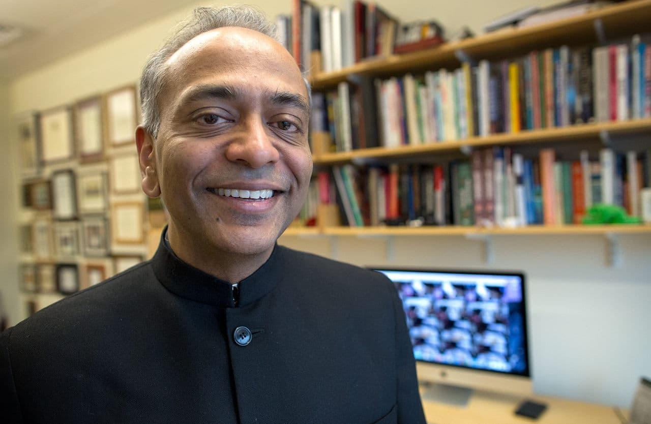 Prof. Pawan Sinha. (Robin Lubbock/WBUR)