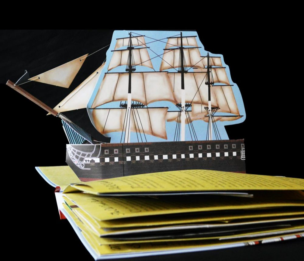 "The U.S.S. Constitution in Denise Price's ""Freedom Trail Pop Up Book."" (Courtesy Union Park Press)"