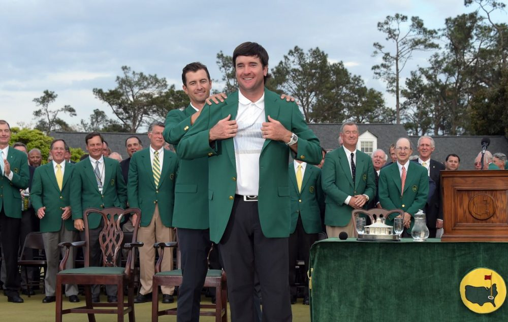 Bubba Watson won his second Masters last year, and was presented with the iconic green jacket. (Jim Watson/AFP/Getty Images)