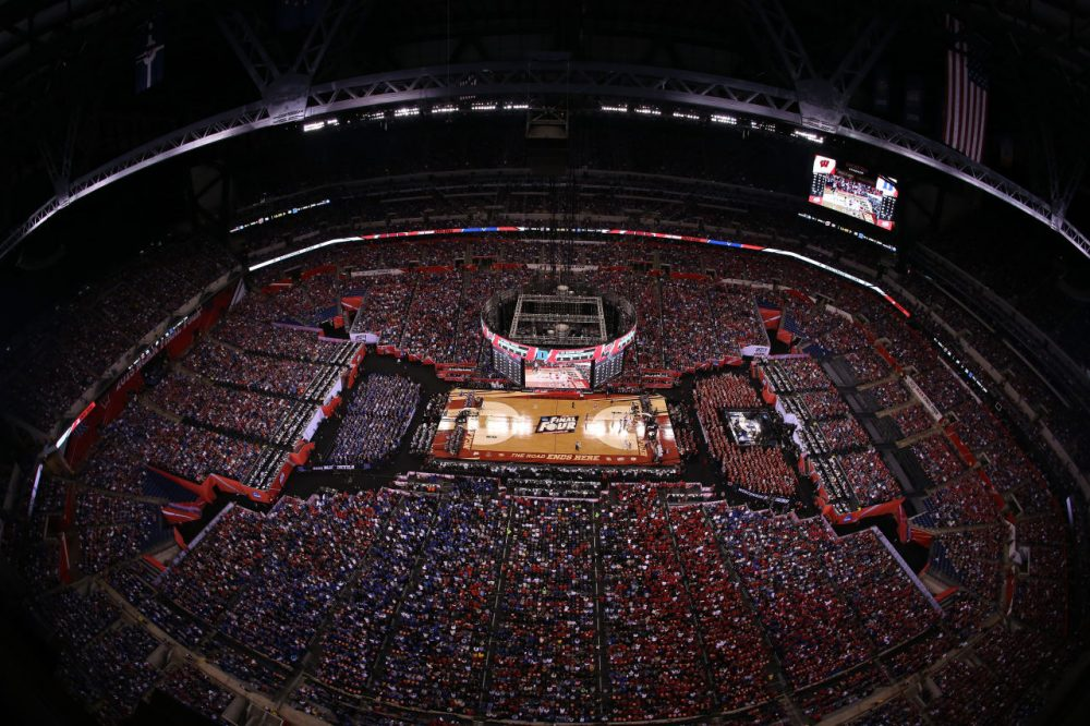 The Indiana Sports Corp. estimates the 2015 Final Four brought $70 million to Indianapolis, but the New York Times' Mark Tracy says that the real value of sports to the city is far greater. (Andy Lyons/Getty Images)