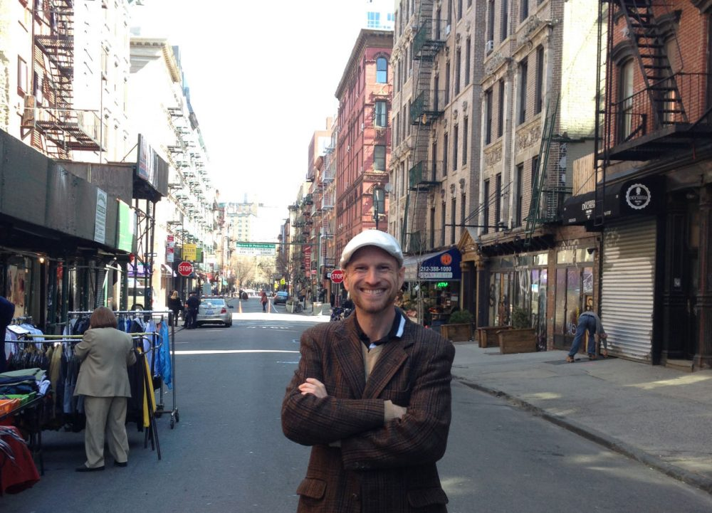 Adam Steinberg is a historian and tour guide with the Lower East Side Tenement Museum. (Jeremy Hobson)