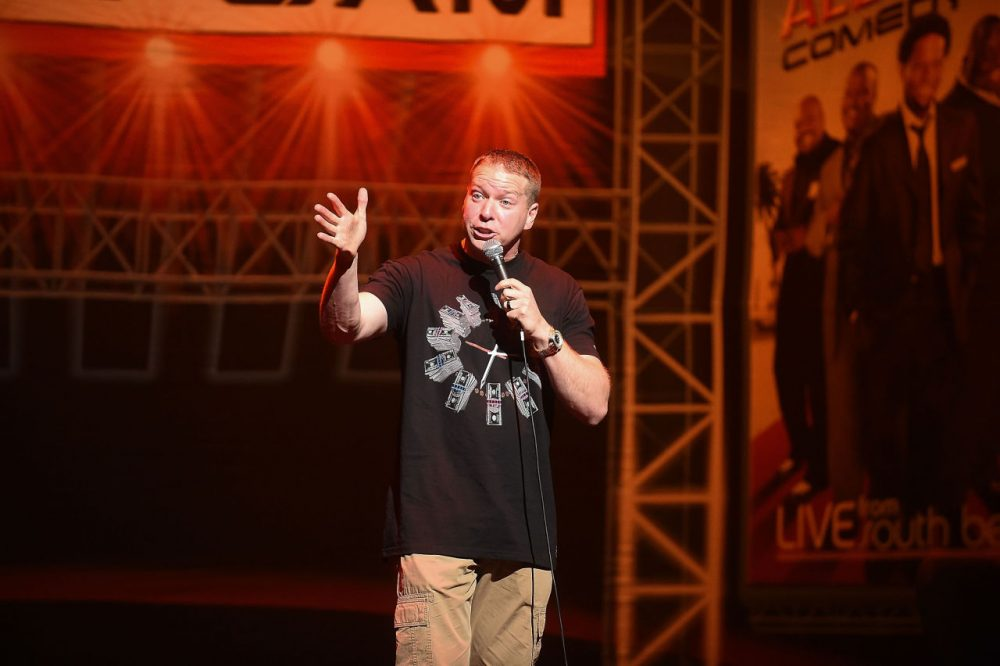 Actor/comedian Gary Owen performs onstage during the HCE Live presents Shaquille O'Neal All Star Comedy Jam at Cobb Energy Center on October 10, 2014 in Atlanta, Georgia. (Paras Griffin/Getty Images for HCE Live)