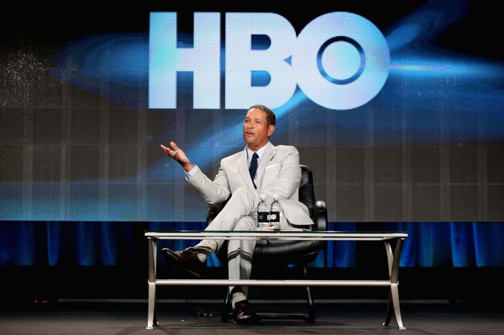 Host Bryant Gumbel speaks onstage during the 'Real Sports with Bryant Gumbel' panel at the HBO portion of the 2015 Winter Television Critics Association press tour at the Langham Hotel on January 8, 2015 in Pasadena, California. (Frederick M. Brown/Getty Images)