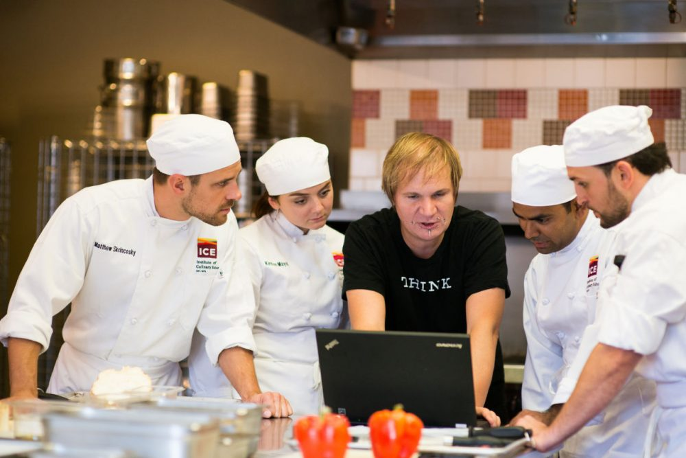 IBM and ICE use Chef Watson in the Kitchen:  Florian Pinel, Senior Technical Staff Member, Watson Life interacts with chefs from the Institute of Culinary Education, using Chef Watson to discover new recipe creations. (IBM & Institute of Culinary Education via Flickr)