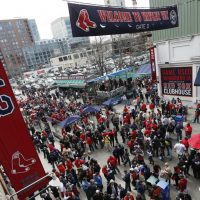 Fenway Park will be back in business, as the Red Sox host the Nationals Monday afternoon in their home opener. (Michael Dwyer/AP)