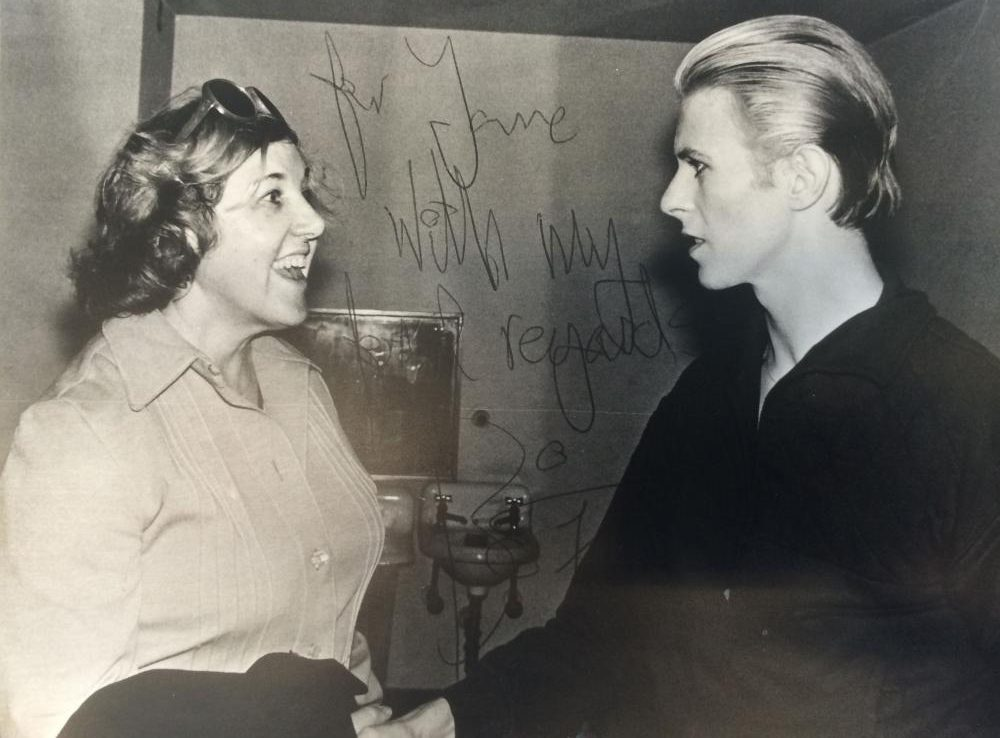 Jane Scott met David Bowie and countless other performers when they were just getting started. (Jane Scott archives)