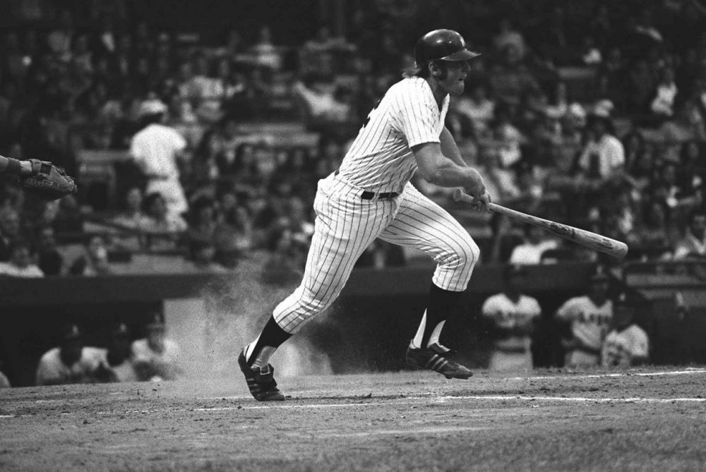 """I thought the DH was just going to last, you know, for a couple of months at the most,"" says former Yankee Rob Blomberg, MLB's first designated hitter. (Harry Harris/AP)"