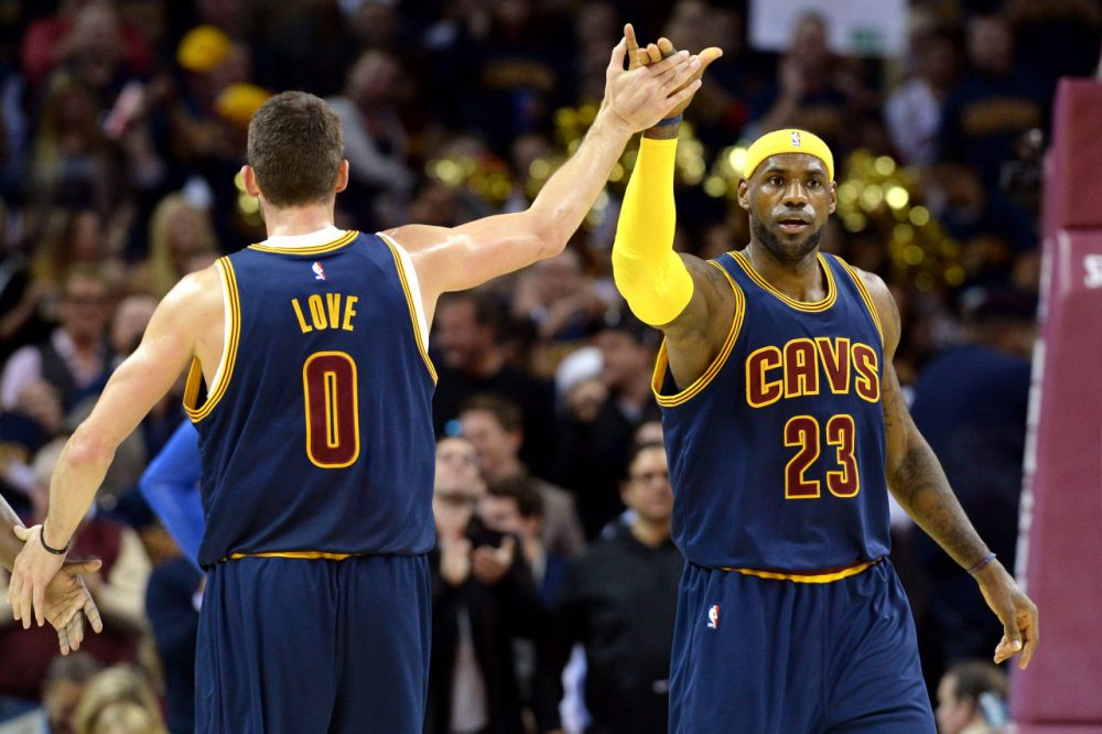 According to Las Vegas, LeBron James and the second-seeded Cleveland Cavaliers are the favorites to win the NBA Championship. (Jason Miller/Getty Images)