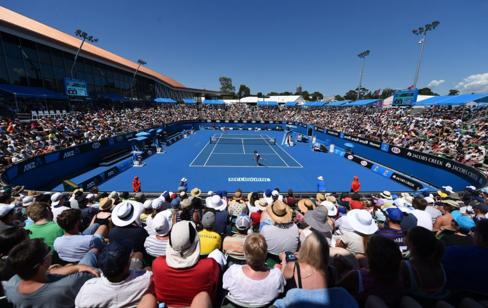 Crowds at tennis matches are typically quiet. The Big 12 is trying to change that. (Mal Fairclough/Getty Images)