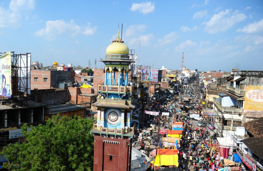 The famous clock tower located in the middle of the old city in Allahabad is pictured on March 4, 2015. The roads are clogged with traffic, the pavements overflow with rubbish and power cuts are a fact of life. But Allahabad, an ancient settlement on the banks of the Ganges, is hoping to become one of India's first tech-savvy 'smart cities' under ambitious plans being piloted by Prime Minister Narendra Modi. (Sanjay Kanojia/AFP/Getty Images)