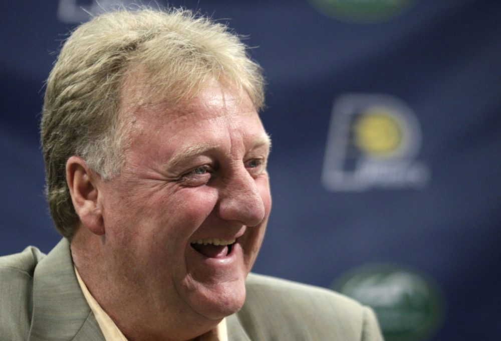 Celtics legend Larry Bird, now the Indiana Pacers president of basketball operations, is one of the famous athletes serving on Boston 2024's board of directors. (AP)
