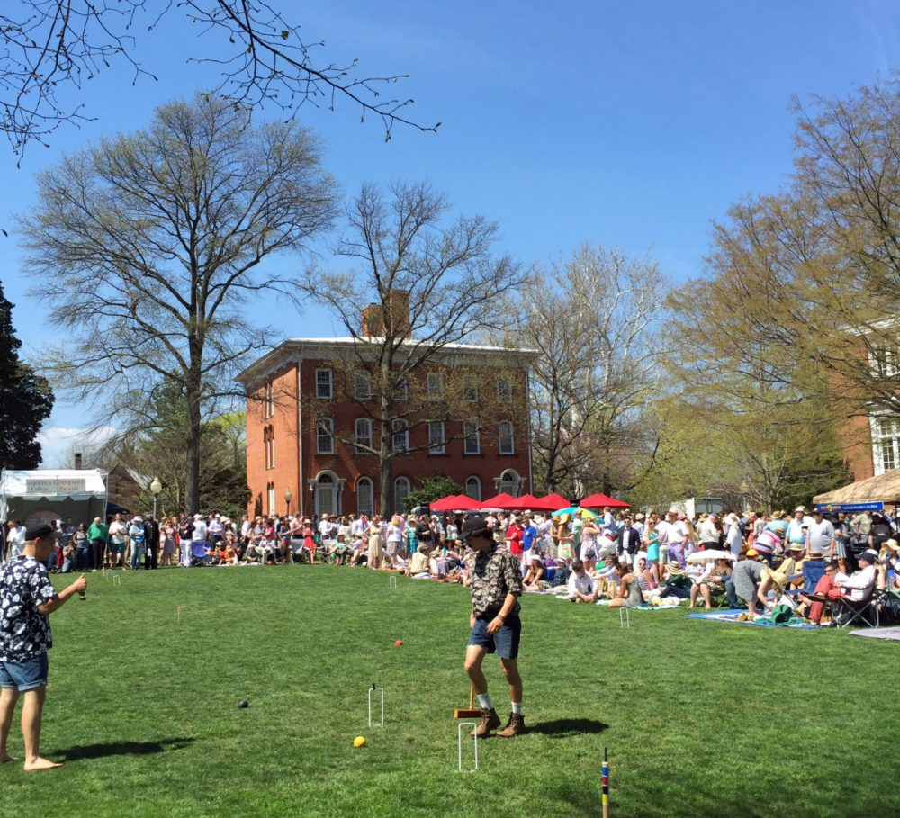 Around 5,000 spectators gathered to dress up, drink, dance, and watch The Annapolis Cup on April 18. (Hans Anderson / Only A Game)