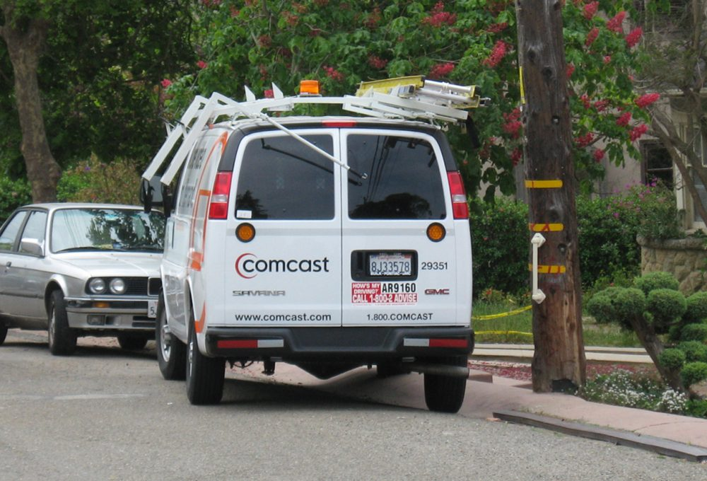 Comcast dropped a bid to buy Time Warner Cable after it learned the government was mobilizing to block the deal. Despite that, the cable giant announced an increase in revenue in their last quarter.(Dave Winer/Flickr)
