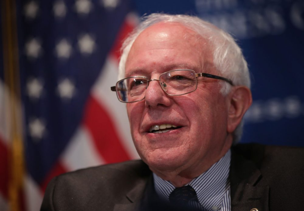 U.S. Sen. Bernie Sanders (I-VT) waits to be introduced prior to his address to a National Press Club Newsmaker Luncheon March 9, 2015 at the National Press Club in Washington, D.C. (Alex Wong/Getty Images)