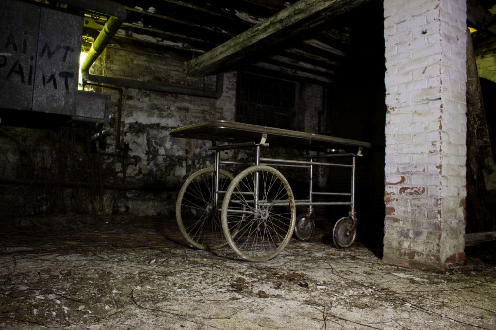 What remains of the main building of the Westborough State Hospital in Westborough. (Drew/Flickr)