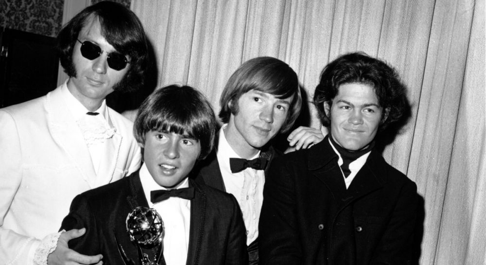 "It's easy to dismiss The Monkees as a ""made for TV"" rock band. But they are so much more. The group members are pictured here at the 1967 Emmy Awards, from left to right, Mike Nesmith, Davy Jones, Peter Tork and Micky Dolenz. (AP)"